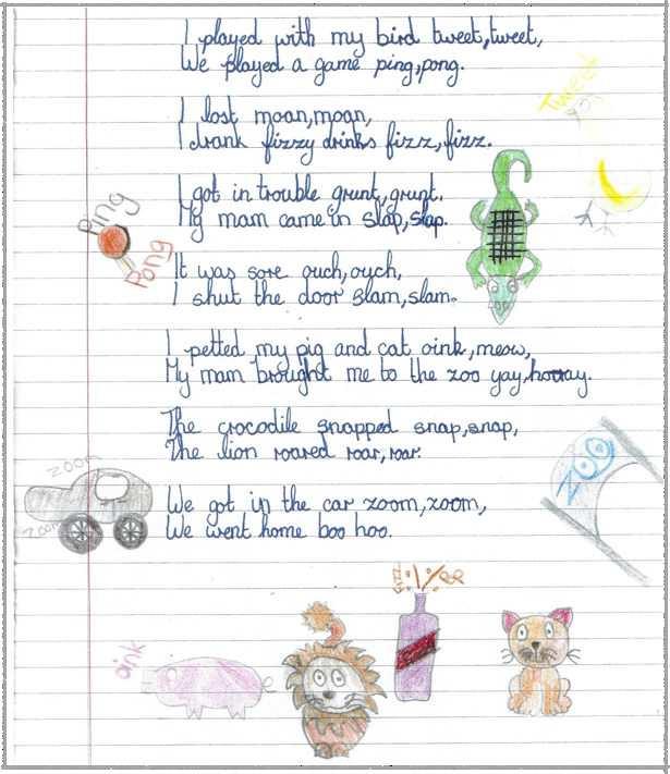 Onomatopoeia Poem  sc 1 st  Holy Trinity SNS & Onomatopoeia Poem - Holy Trinity S.N.S.